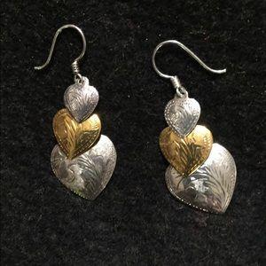 3 piece sterling heart earrings